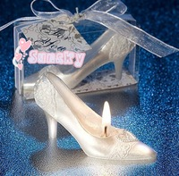 10pcs/lot Free shipping birthday gift, Wedding candle, birthday candle, Smokeless candle,The Glass Slipper Candles