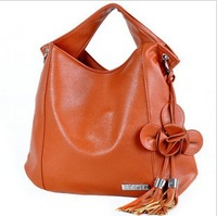 Fashion women's handbag 2012 spring flower tassel bag lady female work bag
