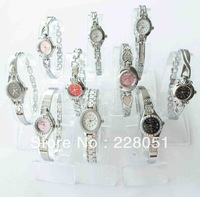 free shipping 10PCS/lot Mixed lots Silver Lady girls Women Wrist Watches Bracelet watches hot gift(brithday...) --1217a