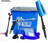 New 2013 Portable Electric Car Wash 22 Litre Machine High Pressure Household With Water Gun 12v Pump Cleaning Washer DeviceCW001