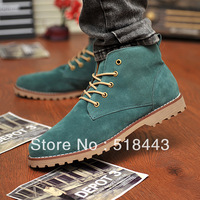 Free shipping discount Nubuck leather skateboarding shoes high-top shoes cotton-padded shoes men's british style martin boots