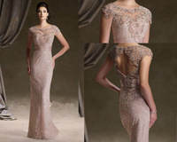 New Arrival Free Shipping ! Design Style 2014 Excellent Open Back Sheath Evening Dresses Lace Long Dress OE2919