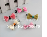 2013  Free shipping Children's  butterfly clip Baby's point dot  headwear hairpin 10pcs/lot