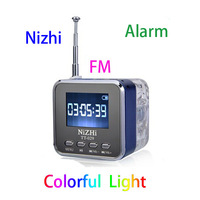 Portable TT 029 Mini TF Micro SD USB Disk LCD Speaker FM Radio Music MP3 Player + Clock Alarm + Multi languages