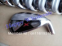 1 set X HOT golf irons (4-9,P,A,S) graphite shaft regular or stiff with free headcover and freeshipping