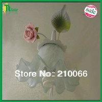 Flower lighting wall lamp decorative with Pink rose ceramic pink rose bracket light corridor free shipping