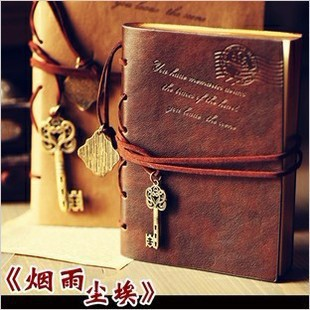 Hot 8456# 320 Pages Korea Retro European Creative Imitation leather Surface Notepad Diary Travel Notebook(China (Mainland))