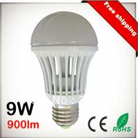 Free Shipping 9W 900lm E27 E26 B22 AC110V 220V 100Lm/W COB LED Chip White LED Bulb Spot Light Lamp 10pcs Lot