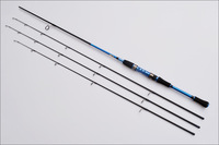 EMS free shipping 2.4M Fishing Rod Spinning Rods with M/M/MH 3 Poles Fishing Rods Carbon in Blue
