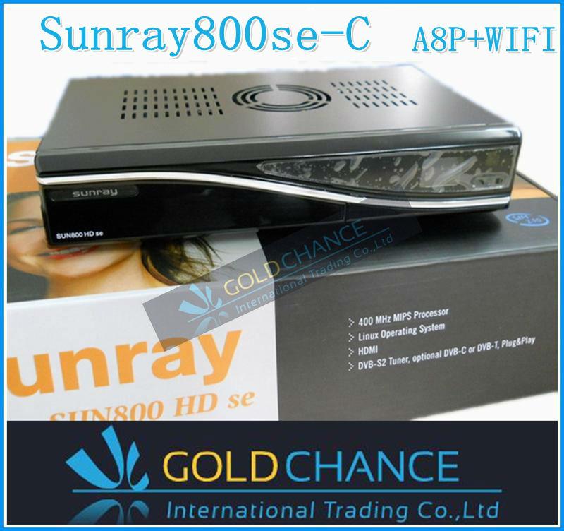 2pcs/lot sunray800se -c hd REV D6 version a8p card 300M Wifi BCM4505 tuner mini flashup button decoder free shipping dhl(China (Mainland))