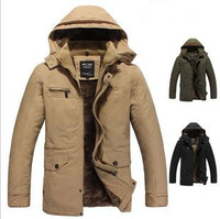 2013 New Arrival Men's Fashionable Thicken Business Cotton Coat  Free Shipping Wholesale  MWM113