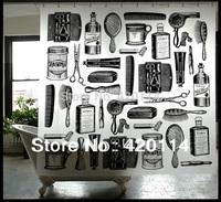 Makeup artist EVA waterproof hand shower curtain 180*200cm  Free 12 Hooks