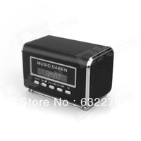 KS300 Mini Speaker MP3 Player with LCD Screen Support USB / Micro SD / TF Card / FM Radio - Black  Free delivery