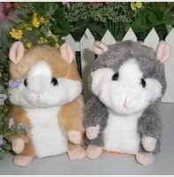 Russia Hamsters 1pcs 5.5'' Russian Video Version Early Learning Talking Woddy time Hamster Plush Toy for Kids #775