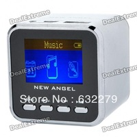 "1.4"" LCD Mini USB Rechargeable MP3 Player Speaker w/ Alarm Clock/TF/USB/Line In/3.5mm Jack - Silver   Free Delivery"