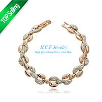 2015 New Christmas Gifts 18k Fashion Adjustable Crystal Bracelet Accessories Wholesale Fashion Bracelets female Free shipping
