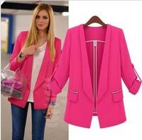Europe WOMAN SUIT BLAZER long STYLE JACKET women clothes suit shrug Coat