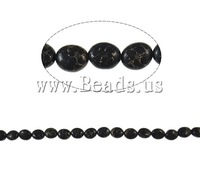Free shipping!!!Turquoise Beads,Diy, Gold Vein Turquoise, Flat Round, synthetic, black, 10x12mm, Hole:Approx 1mm