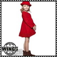 Free shipping the counter new 2013 autumn and spring children's fashion dress Princess pleated dress for girls wear