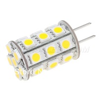 Free Shipment !!!! GY6.35 Led G6.35 Lamp 12VAC/12VDC/24VDC 27pcs of 5050SMD 4W  Dimmable White Warm White For Home Car