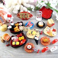 Kawaii Japanese Food Dollhouse Artificial Food Mini Resin Sushi Sweets Deco Fake Sushi Set KT Free Shipping