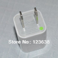 1A White 2-pin US Plug USB wall home travel charger power AC adapter for iPhone ipod cellphone,mp4,free shipping