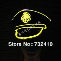 Luminous el cap luminous police cap ds costume neon color hat