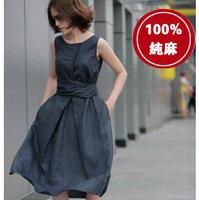 New 2014 summer fashion sleeveless  big yards cotton dress Free Shipping      q3731
