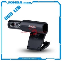 HD Webcam A4TECH  USB  Cmos Auto Focus PK-838G Web Camera With LED Lights  Skype msnbuilt-in microphone Free hipping