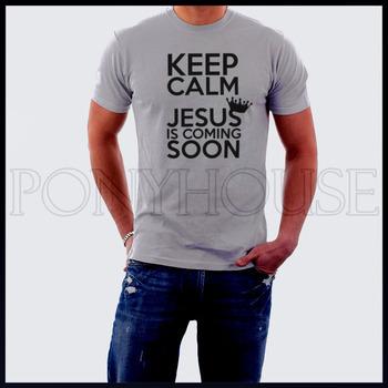 KEEP CALM Catholic Jesus God Christian T-shirt short-sleeved high quality Fashion Brand t shirt for men 2013 new DIY Style