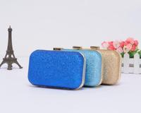 New 2014 fashion Gold dust women evening bag mini clutch bags Metal buckle chain women messenger bags Wholesale free shipping