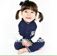 Wholesale 2013 autumn baby boys jumpsuits long sleeve polo baby rompers blue color MM23 free shipping