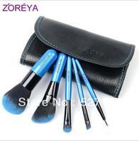 Zoreya 5 brush set loose powder brush, cosmetic brush set,3 colors,pink,blue,black