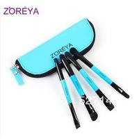 Zoreya 4 cosmetic brush set ,eye shadow brush, double slider brush, make-up eye make up set 7