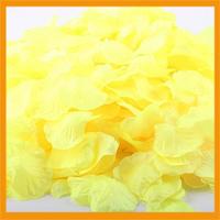 Free Shipping 1000pcs/lot wedding Table Decorations silk rose petals Yellow color