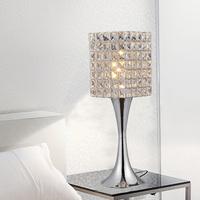 Free shipping stylish minimalist modern K9 crystal decorative table lamp bedside lamp bedroom living Creative Arts FRTL/T19