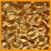 Free Shipping 1000pcs/lot wedding Table Decorations silk rose petals Gold color