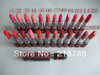 65pcs/lot Makeup lustre Lipstick 24 different colour with English name!!Free shipping EMS/DHL