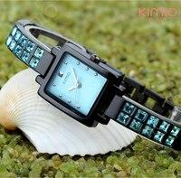 Women Rhinestone Watches Ladies Rhinestone Acrylic Light Blue Gem Stones Diamond Wristwatch 5 color Christmas gift ML0327