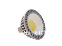 100pcs/lot 3W MR16 COB LED Bulb Pure/Warm White LED Spotlight Lamp Silver DC12V Free Shipping
