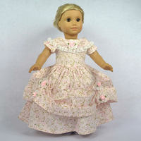 """Doll Clothes Fits 18"""" American Girl Dolls, Doll Dress, Victorian Evening Gown, 1pcs, Girl Birthday Present, Xmas Gift, H04"""