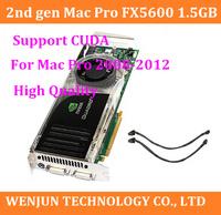 100% Original for Mac Pro Quadro FX5600 1.5GB PCIe 2x DVI Video Graphic Card  2nd Gen 2008/2010 high quality Support CUDA