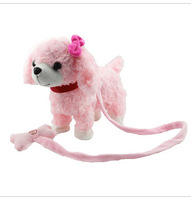 2013 Free shipping novelty cute kids Electric toy cheap promotional electronic plush Electronic backwards dog AMD-742