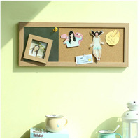 Message board hanging magnetic photo frame cork board 50x20cm Message Center Wall Decoration JNT014
