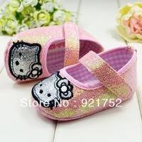 free shippingSequins cat toddler baby shoes, baby walking shoes shoes 1461