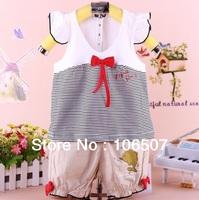 2pcs 100% cotton 1-3 years Children clothing summer baby girl sets Kids t shirt + short pants cute fashion free shipping hot