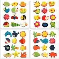 Baby toy yakuchinone wool cartoon refrigerator stickers animal 48pcs/lot free shipping