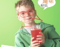 free shipping! Flexible DIY Straws Drinking Food Grade PVC glasses Drinking novelty item funny straw
