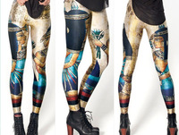 2013 New Arrival!  free shipping Women Designed digital Printed vintage Egypt Pharaoh leggings