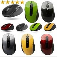 100pcs/lot.2.4 GHZ USB portable optical wireless mouse receiver 6 keys 800/1600 dpi